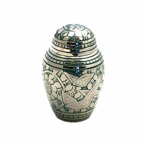 Well Lived™ Small Brass Light Green Keepsake Cremation Urn for human ashes
