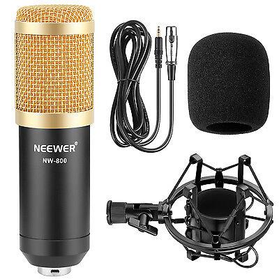 Neewer NW-800 Microfono a Condensatore Set per Procast/Registrazione (Nero)