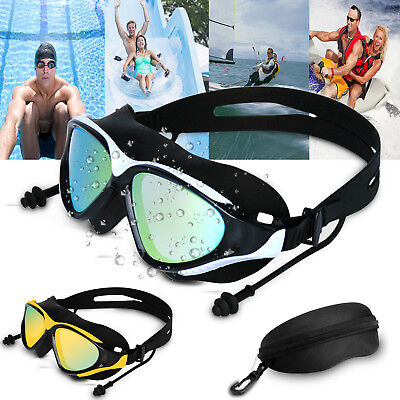 Mirror Swimming Goggles Anti-Fog Swim Glasses UV Protection with Ear Plug (Swim Goggles Fog)