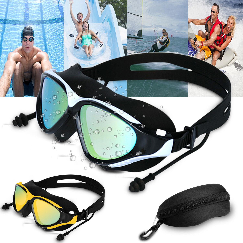 Mirror Swimming Goggles Anti-Fog Swim Glasses UV Protection