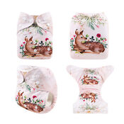 ALVA Baby Cloth Nappies Printing Color Adjustable Reusable diapers cover 3-15K