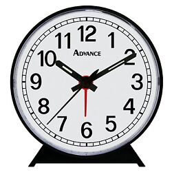 2054AT Advance OrganTick Keywind Analog Quartz Alarm Clock - Black