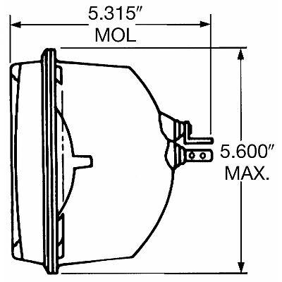 Headlight Bulb-Base Wagner Lighting H6054BL