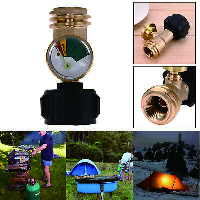 Propane Tank Gauge Gas Grill BBQ Pressure Meter Indicator Fuel Brass