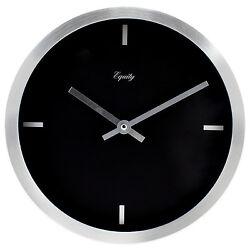 20776 Equity by La Crosse 10 Brushed Metal Analog Wall Clock - Black