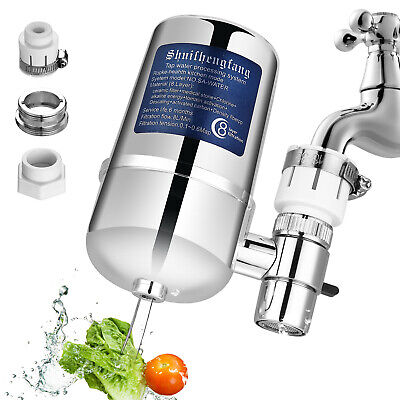 Faucet Water Filter For Kitchen Sink Or Bathroom Mount Filtration Tap (Faucet Mount Filter)