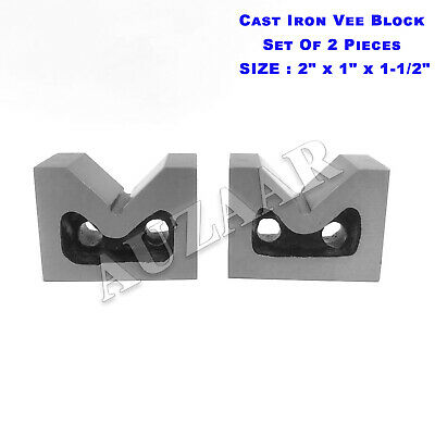 Cast Iron Vee Block Set Of 2 Pieces 2 X 1 X 1-12 Inch V Block Without Clamp