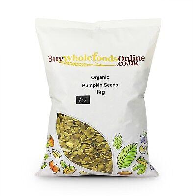 Organic Pumpkin Seeds 1kg   Certified Organic   Buy Whole Foods Online