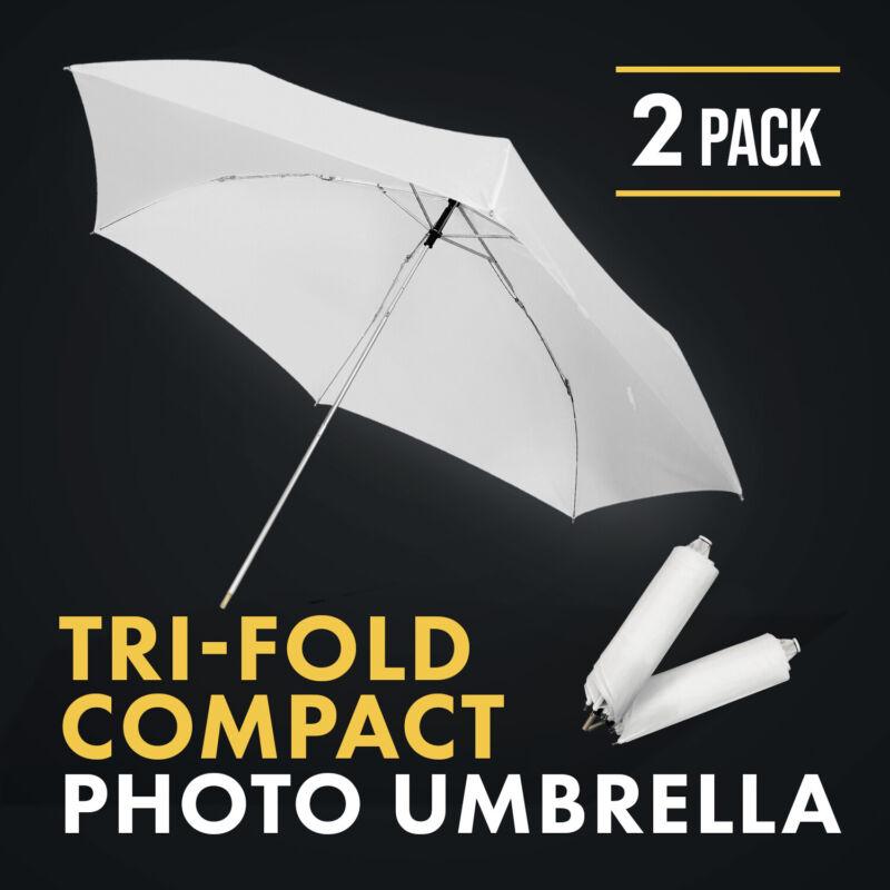 "33"" Trifold White Photography Umbrella Speedlite Softbox Flash Lighting Diffuser"
