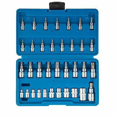 35 pc Torx Bit and E-Socket Set with case W/ Industrial S2 Steel Bits