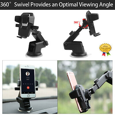 360° Mount Holder Car Windshield Stand For Mobile Cell Phone GPS iPhone (Odyssey Mobile Gps)