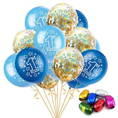1st Geburtstag Konfetti Gefüllt Luftballons Gold 1 Jahr Alt Baby Party Ballons ()