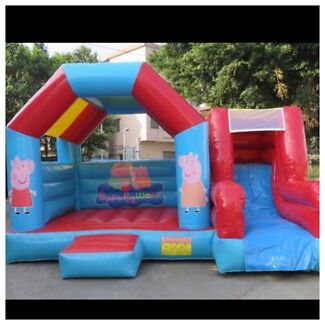 Peppa pig jumping castle hire with slide