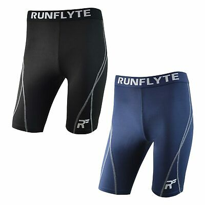 RunFlyte Men's Flyte Compression Training Shorts Running Tights Moisture f2107