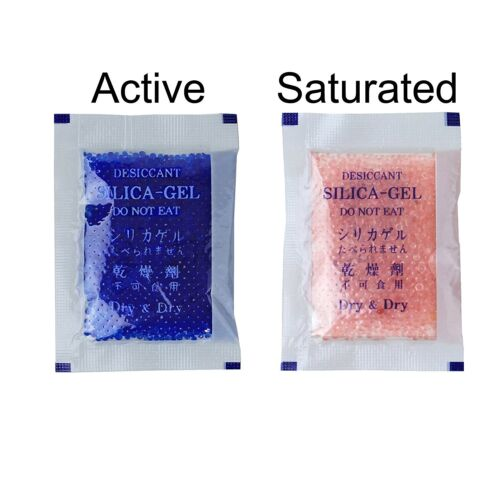 50 Packs Dessicant Blue To Pink Silica Gel Packets 5 Gram Air Dryer Premium