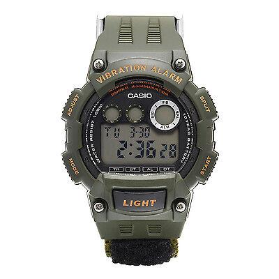 Casio Men's W735HB-3AV Super Illuminator Vibration Alarm Black Nylon Band Watch