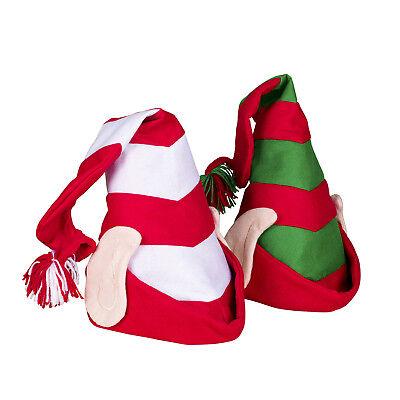 Deluxe Felt Elf Hat With Ears Santas Helper Christmas Time Costume Accessory - Christmas Elf Ears
