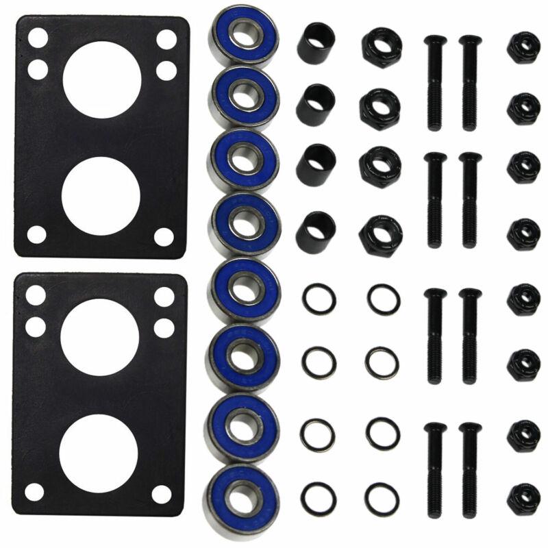 "Longboard Hardware Refresh Kit - Bearings, Risers, 1.25"" Hardware, Nuts"