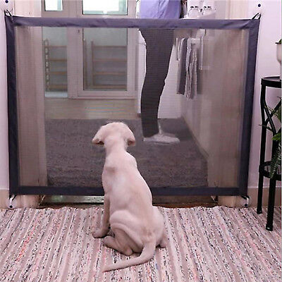 Black Magic-Gate Portable Folding Safety Guard Mesh Magic Net for Pets Dog Cat
