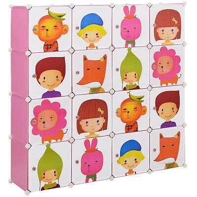 [neu.haus]® Kinder System Regal Schrank Türen 145x145cm DIY Steck Kommode Motiv
