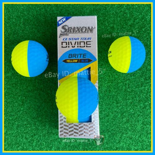 Srixon Q-STAR TOUR DIVIDE (Yellow / Blue) - NEW Sleeve (3 YELLOW & BLUE Balls)