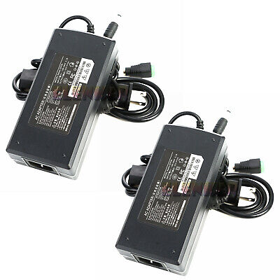 2x Dc12v 10a 120w Switching Power Supply Adapter Transformer For Led Strip Light