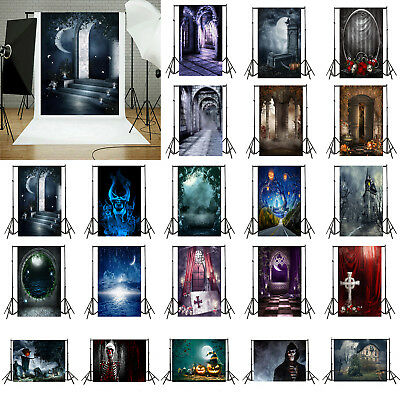 Halloween Vinyl Photography Background Photograph Backdrops Photo Studio Decor - Halloween Photo Studio