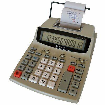 Datexx DP-32AD Calculator 12 Digit Portable Printing Accountant CPA