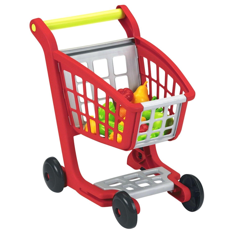 ECOIFFIER 1225 Kinder Einkaufswagen mit Kaufladen Zubehör Einkaufskorb