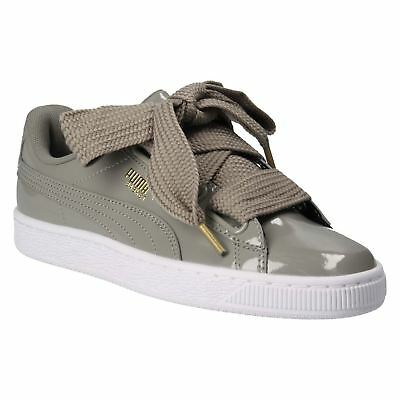 Puma Basket Heart Patent 363073-12 Womens Trainers~RRP £75~Sizes UK 3 to 7.5