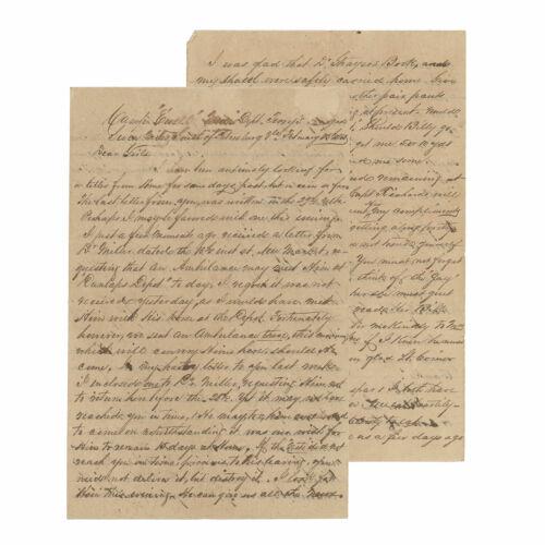 1864 Confederate Civil War Letter - 25th Virginia - Battle of Hatcher