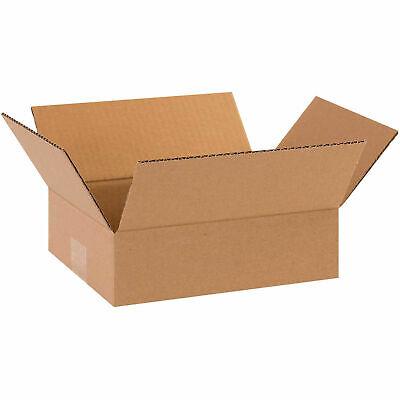 10 X 8 X 3 Flat Cardboard Corrugated Boxes 65 Lbs Capacity 200ect-32 Lot