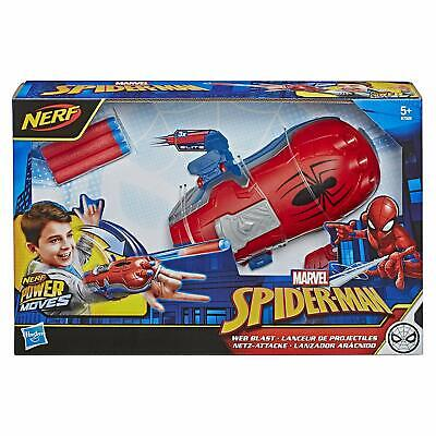 NERF Gun Marvel Spider Man Web Blast Web Shooter Dart-Launching Toy Gift Kids