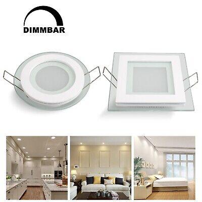 Unterputz-leuchte (LED Panel Glas Dimmbar Einbaustrahler Einbau Unterputz Deckenlampe Leuchte)