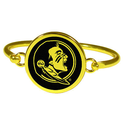 Florida State Seminoles FSU Gold Tone Bangle Bracelet by Siskiyou Company ](Fsu Party)