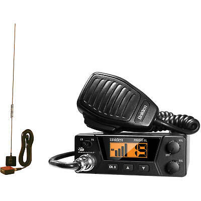 Compact 40 Channel CB Radio Mobile New Weather Band Mobile Antenna S/RF Meter