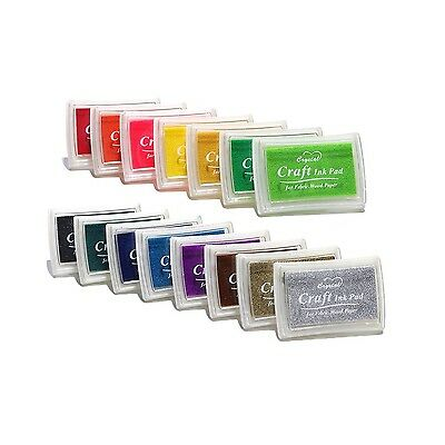 Decora 15 Colors Crafts Ink Pads for Rubber Stamp DIY Scrapbooking and Card M...
