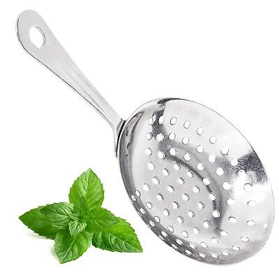 7-inch Stainless Steel Julep Strainer Bar Cocktail Strainer By Tezzorio