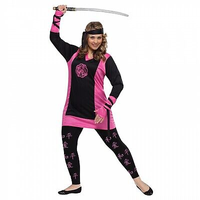 DRAGON NINJA -XLG Full Figured Plus Size Costume Fighting Halloween Party -FW