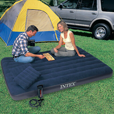 INTEX Luftbett Gästebett Luftmatratze Campingbett Feldbett + 2 Kissen Luft