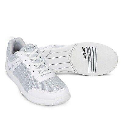 Mens KR Strikeforce White/Grey Flyer Mesh Bowling Shoes Size 6 - 15 Bowling Mesh Bowling Shoes