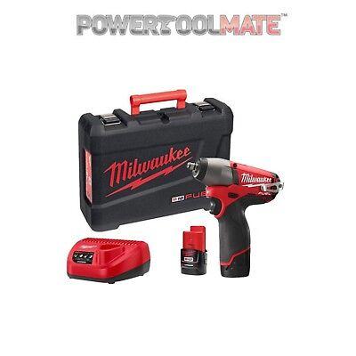 Milwaukee M12CIW38-202C 12v Fuel 3/8in Impact Wrench 2 x 2.0Ah Li-ion Kit d'occasion  Expédié en Belgium