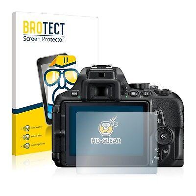 2x BROTECT Displayschutzfolie Klar Nikon D5600 Schutzfolie Displayfolie Folie
