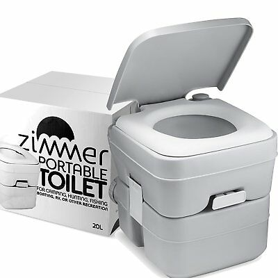 Portable Toilet Camping Porta Potty - 5 Gallon Waste Tank - Durable, Leak Proof,