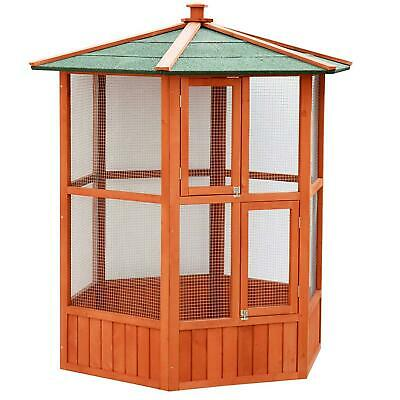 NEW Outdoor Hexagonal Bird Aviary For Budgies Doves Canaries Quails Finches