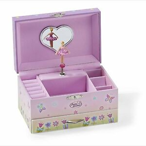 Pink Fairy Butterfly Kids Girls MUSICAL JEWELLERY BOX / Music Chest -Lucy Locket