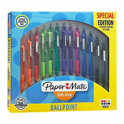 Paper Mate Inkjoy 300rt Retractable Ballpoint Pen Medium Assorted Color 25-pack