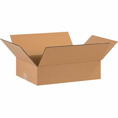 16 X 12 X 4 Flat Cardboard Corrugated Boxes 65 Lbs Capacity Ect-32 Lot Of
