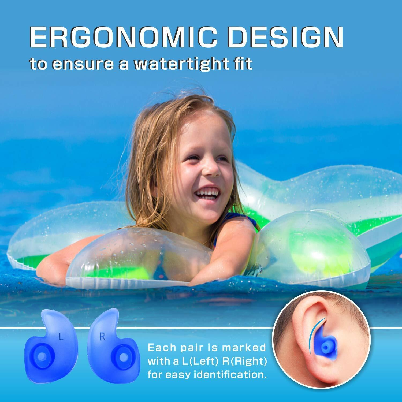 Wasserdichte Silikonohrstöpsel Hearprotek Ohrstöpsel schwimmen Kinder