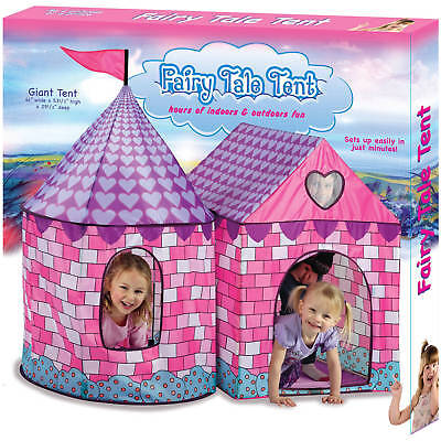 Fairy Tale Tent Playhouse Play House Kids Children Fold Up Indoor Outdoor Party - Fairy Tale Tent